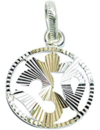Handicraft Pure 92.5 Sterling Silver Om (Aum) Pendant (SS9250788)