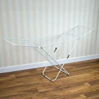 Home Vida Winged Folding Clothes Airer, 18 m Drying Space Free Delivery
