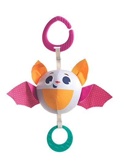 Tiny Love 3333111571 Oscar Bat Rattle Teether Stoffspielzeug Baby-Rassel, mehrfarbig