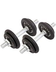 Haltère en fonte Set de 20 kg, 30 kg, 35 kg ou 50 kg