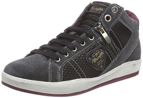 Wrangler Oxid Mid Zipper, Sneaker alta donna, Nero (Schwarz (62 Black)), 36