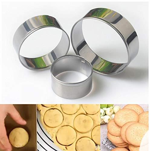 lätzchen-Form Mousse Cake Ring Baking Pastry Werkzeug-Edelstahl-runde Kreis-Kuchen-Biskuit-Form Obst Cutter Mold ()