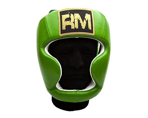 UK Ringmaster Boxen Kopfschutz Echtleder grün