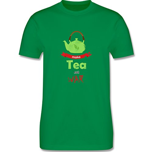 Statement Shirts - Make tea - not war - Herren Premium T-Shirt Grün