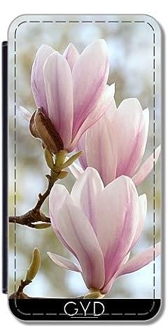 Etui à Rabat pour Samsung Galaxy Ace 3 (S7272/A7275) - Fleur Asie Magnolia by