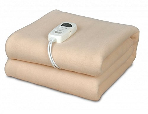 Heizdecke mit Abschaltautomatik (1-8 Stunden Timer) |100% Vlies | 5 Stufen | 40° waschbar | Wärmedecke | Wärmeunterbett | Wärmezudecke | elektrische Heizdecke | 150x80cm (Wärme-heizdecke)