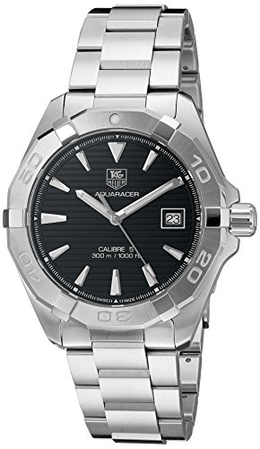 TAG Heuer Men's 40mm Steel Bracelet & Case Automatic Black Dial Analog Watch WAY2110.BA0928