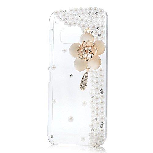 spritech (TM) 3D Handmade Fashion Girl Frau Extreme Luxus Bling Strass DESIGN Schöner Rosa Schleife Decor Clear Hard Caver Fall, style-23, HTC M9 3g Strass