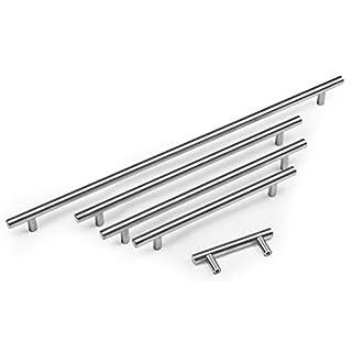 Hausen - Schrankgriffe - ideal für Küchenschränke - Steggriff - gebürsteter Edelstahl - 64 bis 640 mm - 480mm