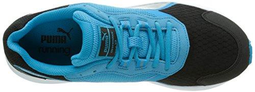 Puma Descendant V3, Chaussures de Running Entrainement Homme Noir (Black/Atomic Blue/Silver)