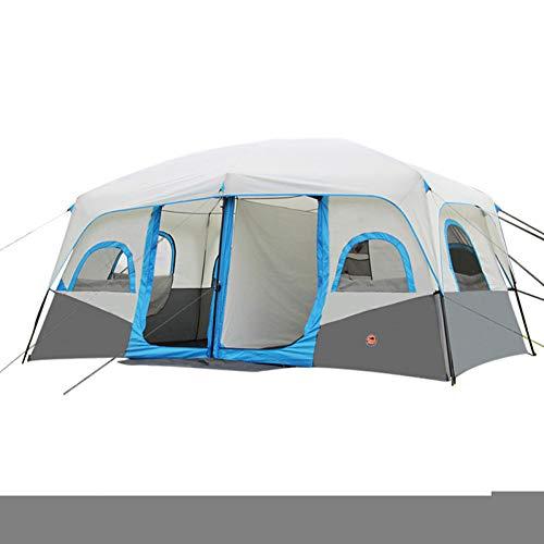 RDGDSGED 8 Personen Kabinenzelt Familienzelt Outdoor wasserdicht tragbar atmungsaktiv doppelt geschichtet automatische Instant Kabine Zelt Zwei Räume 2000-3000 mm für Camping/Wandern Angeln Klettern -