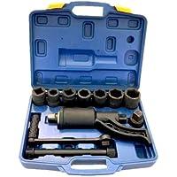 Moltiplicatore di forza per bulloni in valigetta + set 7 bussole