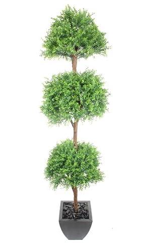 Closer2Nature Artificial 6ft Tea Tree Ball Topiary - Portofino Planter Not Included