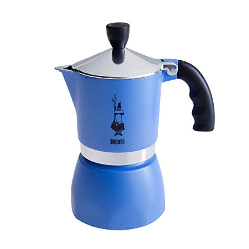 Bialetti Fiammetta- Cafetera italiana, 3 tazas, Azul