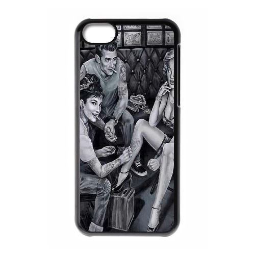 Audrey Hepburn The Unique Printing Art Custom Phone Case for Iphone 5C,diy cover case ygtg-786809