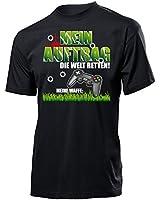 MEIN AUFTRAG DIE WELT RETTEN! MEINE WAFFE Cooles Fun T-Shirt Herren S-XXL - Deluxe