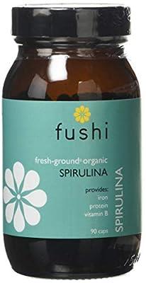 Organic Spirulina Capsules, Organic, 90 Veg Caps from Fushi Wellbeing