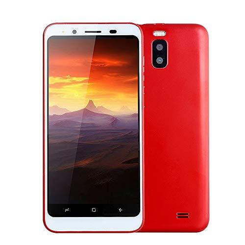 samLIKE Handy Dual SIM Smartphone Günstig Ohne Vertrag 512MB + 4GB GSM mit 4,7 Zoll Ultra-HD Bildschirm Ultradünn Dual Core Android 4,4 Cell Phone mit Dual Rückkamera, 3G + WLAN (Rot)