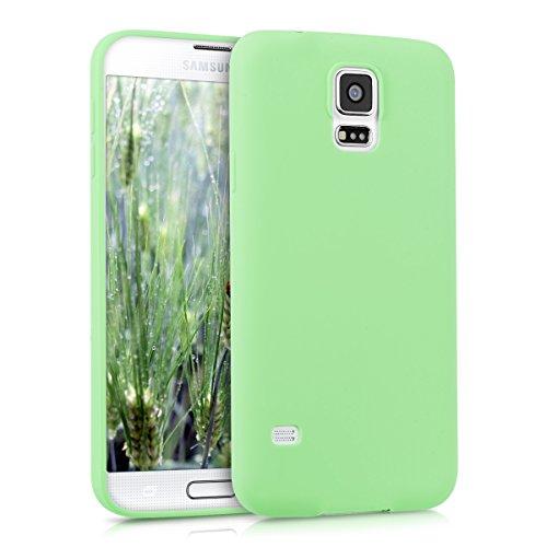 kwmobile Samsung Galaxy S5 / S5 Neo Cover - Custodia per Samsung Galaxy S5 / S5 Neo in Silicone TPU - Backcover Protezione Menta Matt