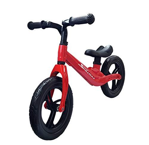 Skillmax Ultraleicht Balance Fahrrad für 2-4 Jahre Alter Junge und Mädchen | 12-Zoll-4,5-kg-Laufrad mit verstellbarem Sitz und Griffhöhe (Red) (Mädchen Für Fahrrad-sitze)