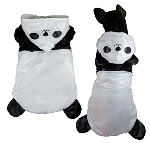 ranphy Puppy Panda Kostüm Medium Haustier Kleidung Winter Hund Kostüm Hund Jacke Winddicht Hund Jumpsuit
