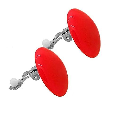 tumundo Set de 2 ou 10 Pièces / 1 Piece Boucle Clip d'oreille Faux Fake Pince Rond Bijoux Balle Grand Acrylique Clipper,
