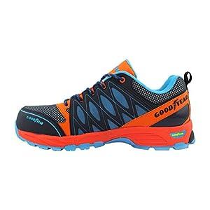 413igRLJTrL. SS300  - Goodyear Workwear GYSHU1583 S1P/SRA/HRO Zapatillas de seguridad para hombre, ligeras, no metálicas, con puntera y entresuela de Composite, 10 UK (44 EU), multicolor, 1