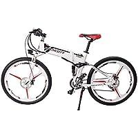 Prescott Bicicleta eléctrica eléctrica Plegable 250W con batería extraíble de Iones de Litio y transmisión Shimano