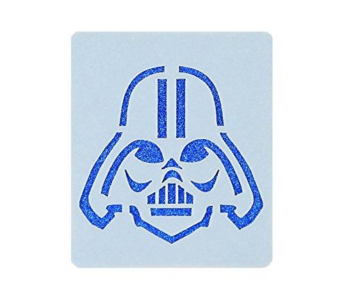 Star Wars Darth Vader Face Painting Stencil 7cm x 6cm 190micron Washable Mylar (Darth Vader Schablone)