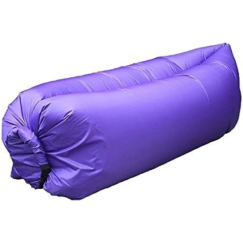 Per sacco a pelo da campeggio autogonfiante, sdraiato Pad gonfiaggio Couch, Comoda sedia gonfiabile a compressione ad aria in Nylon, per spiaggia, viaggi e tappeti, per raccogliere altre &