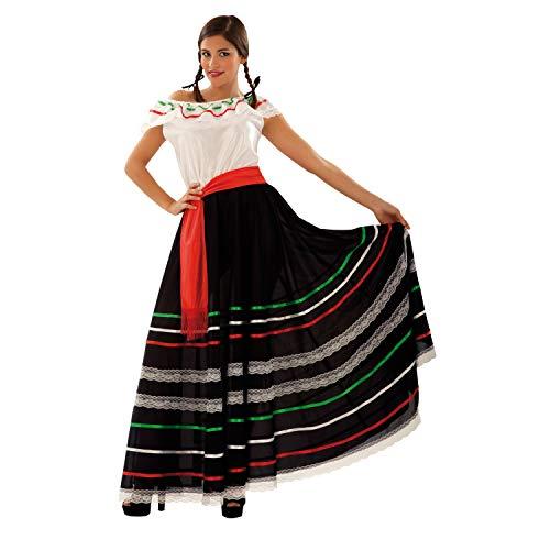 Von Kostüm Mexiko - Mexikanerin-Adelita-Kostüm für Erwachsene XL