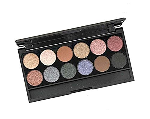Swiss Beauty, Pro WESTERN 12 Ultra Professional with matte,semi-matte and shimmering eye shadow, 12g weight, ( ESB705, Black)