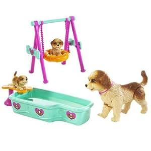 barbie accessoires balancoire et piscine de chien