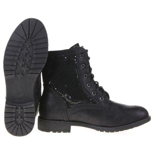 Damen Schuhe, 3VAX-2287, STIEFELETTEN Schwarz 1S28-