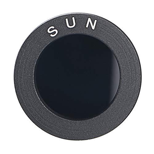 Zinniaya Accesorios para telescopios astronómicos Filtros solares Negros de 0.965