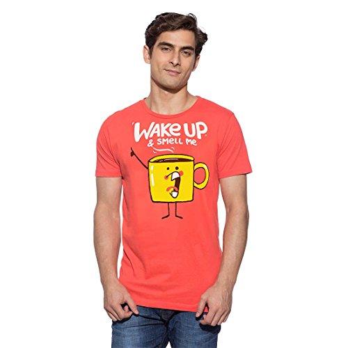 Chimp WAKE UP T-Shirts Mens (NASTURTIUM, Medium)