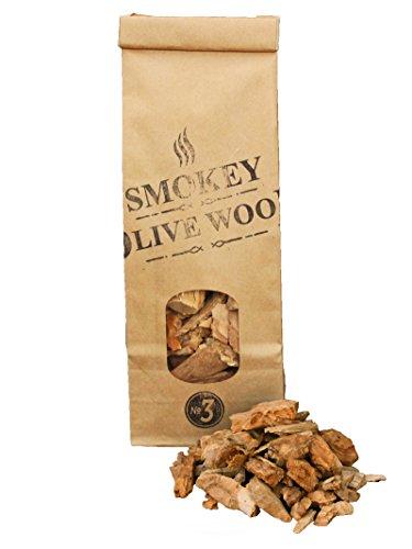 500ml, cippati da affumicatura di olivo, 2-3cm, Smokey Olive Wood