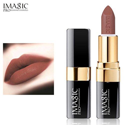 Rouge à Lèvres, Tefamore Liquide de Rouge à Lèvres Liquide hydratant en Velours Métal Rouge à Lèvres cosmétique Maquillage (5#)