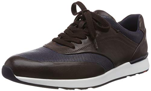 LLOYD Herren Arturo Sneaker, Braun (Ebony/Ocean 1), 47 EU