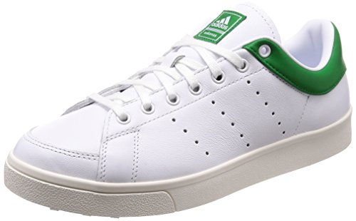adidas Adicross Classic-Leather, Zapatillas de Golf para Hombre, (Blanco/Verde F33781), 45 1/3 EU
