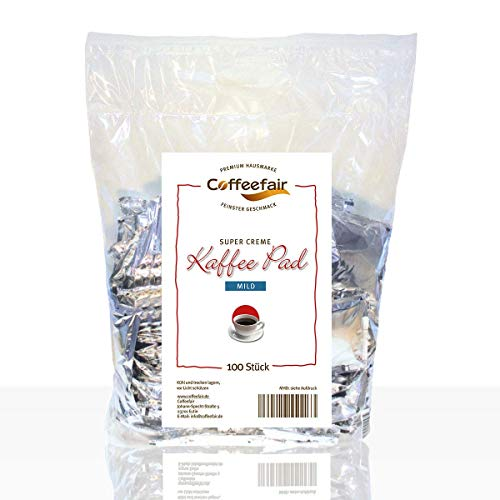 Coffeefair Kaffee-Pads Supercreme Mild 100 Stück | Megabeutel