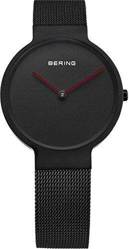Bering Time Herren-Armbanduhr XL Analog Quarz Schwarz beschichtet 14539-642