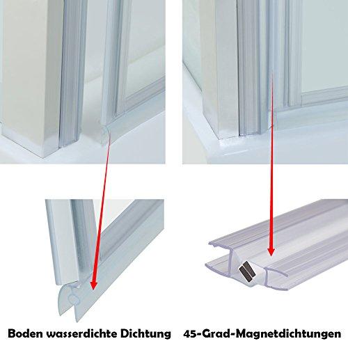Rahmenlose Duschtür aus Klarglas - 8