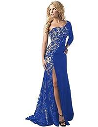 ღ Vestito da donna Elegante ღ feiXIANG® Donne Stampa Floreale Abiti Formale  Lungo Pizzo Cerimonia 88223798bdc