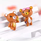 Brand Name: ZOCDOU Style: Pastoral Theme: Animal Material: PVC Size: about 3x2.6cm Quantity: 10 pieces different model Model: bear