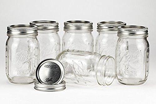 Jar 16 Mason Oz (Ball Mason Jar 16oz Regular Mouth 6er/Set)