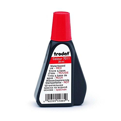 Trodat Stempel-Farbe 7011 (28 ml) Farbe Rot