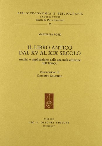 libro antico dal XIX