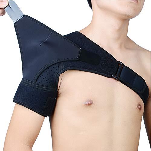 TZTED Verstellbare Schulterbandage Neopren Schulterstütze für Rotatorenmanschette Verletzungen,Reduziere Schulterschmerzen. für Linke und Rechte Schulter, für Männer & Frauen,Right -