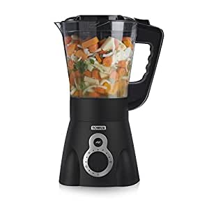 Tower Health T12001 Soup Maker with 60-Minute Timer, 1.5 Litre, Black